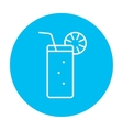 Glass with drinking straw line icon vector image vector image