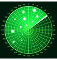 Green radar screen vector image vector image