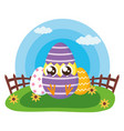 happy easter chick vector image vector image