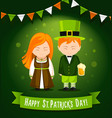 happy saint patrick day vector image