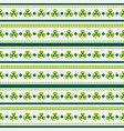 happy st patricks day seamless striped pattern vector image