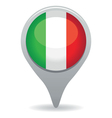 italian flag pointer vector image