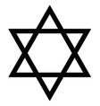 judaism star vector image vector image
