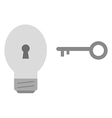 Light bulb with key vector image