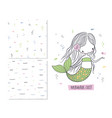 mermaids exist surface design vector image vector image