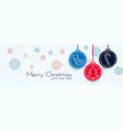 merry christmas decorative banner with xmas vector image