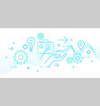 modern of business analytics vector image vector image