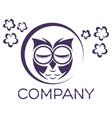 modern owl logo vector image