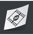 Monochrome 3D movie sticker vector image vector image