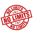 no limits round red grunge stamp vector image