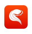 ocean or sea wave icon digital red vector image vector image