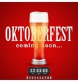 Octoberfest Coming soon poster vector image