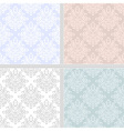 Pastel seamless ethnic pattern set vector image vector image