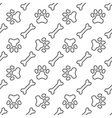 Pet paw and bones for dog pattern vector image vector image