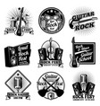 rock and roll music labels vintage heavy vector image