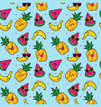 seamless doodle pattern 2 vector image vector image