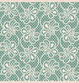 seamless flower lace pattern on blue background vector image