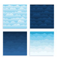 set cloud sky cartoon background blue sky vector image