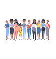 set of a group of different african american vector image vector image