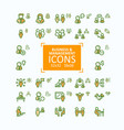 set of fine line icons vector image