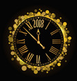 shiny new year 2018 countdown clock on the black vector image vector image