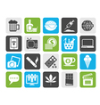 Silhouette different types of Addictions icons vector image vector image