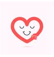 Smile heart shape and handshake symbol vector image vector image