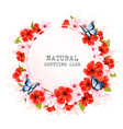 spring nature getting card with a colorful vector image vector image