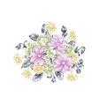 Summer background with a bouquet of flowers vector image