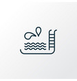 swimming pool icon line symbol premium quality vector image vector image