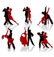 tango silhouettes vector image