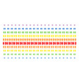 toilet persons shape halftone spectrum grid vector image vector image