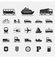 Transport Icons Collection vector image