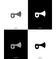 trumpet music instrument line black and white vector image