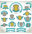 Vintage labels shields and ribbons retro style set vector image
