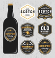 Vintage Premium Whiskey Brands Label vector image vector image