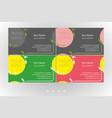 vivid business card floral templates set vector image