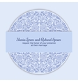 Wedding invitation decorated with round ornament vector image