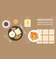 american breakfast vector image