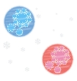 Snowflakes christmas background vector image
