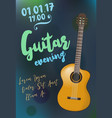 acoustic guitar event design template for flyer vector image