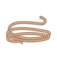 Hemp three strand rope coiled in a circular vector image