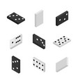 3d items to play dominoes vector image