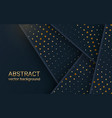 abstract 3d banner with dark paper layers vector image