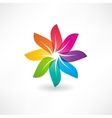 abstract colorful leaves icon vector image vector image