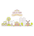 Agribusiness of colorful modern farm life wi vector image vector image