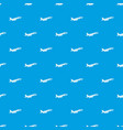 airplane taking off pattern seamless blue vector image