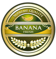 Banana Gold Vintage Label vector image vector image