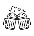 beer line icon concept sign outline vector image