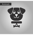 black and white style icon dog vector image vector image